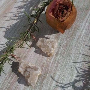 Handmade geode earrings ✨